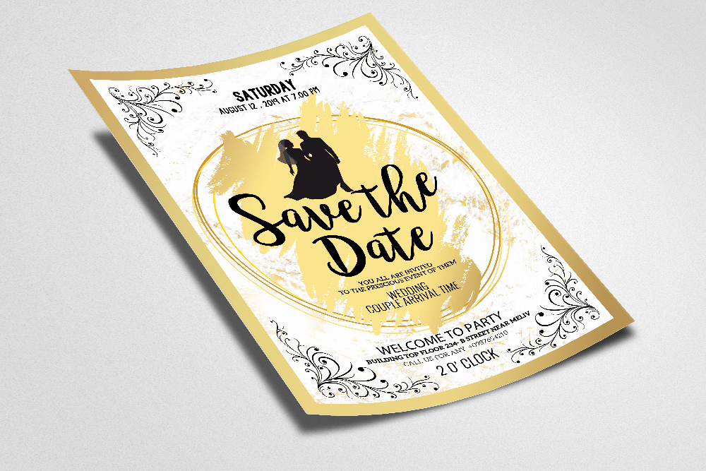 Save The Date Invites Poster template example image 2