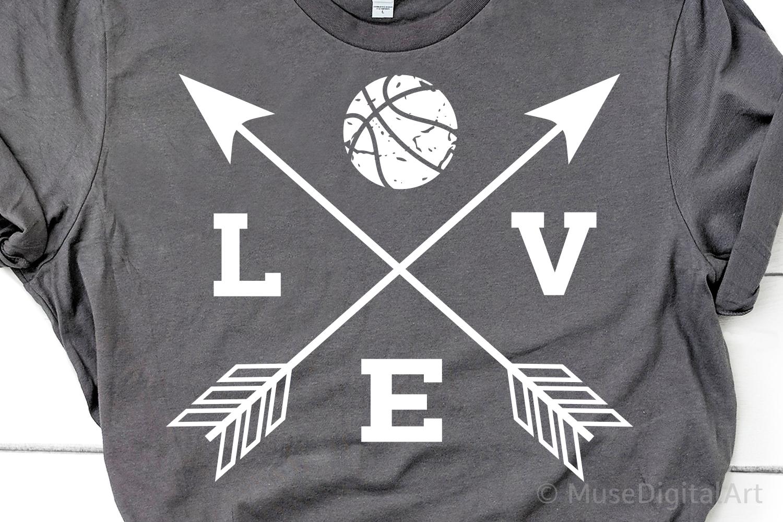 Love Basketball Svg, Basketball Svg, Basketball Mom, Grunge example image 1