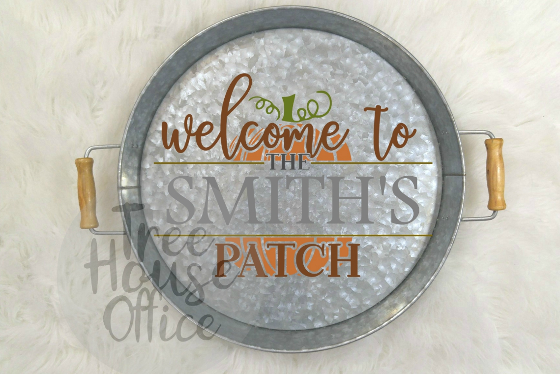 Welcome To Our Patch Front Porch Pumpkin Sign SVG PNG JPEG example image 5