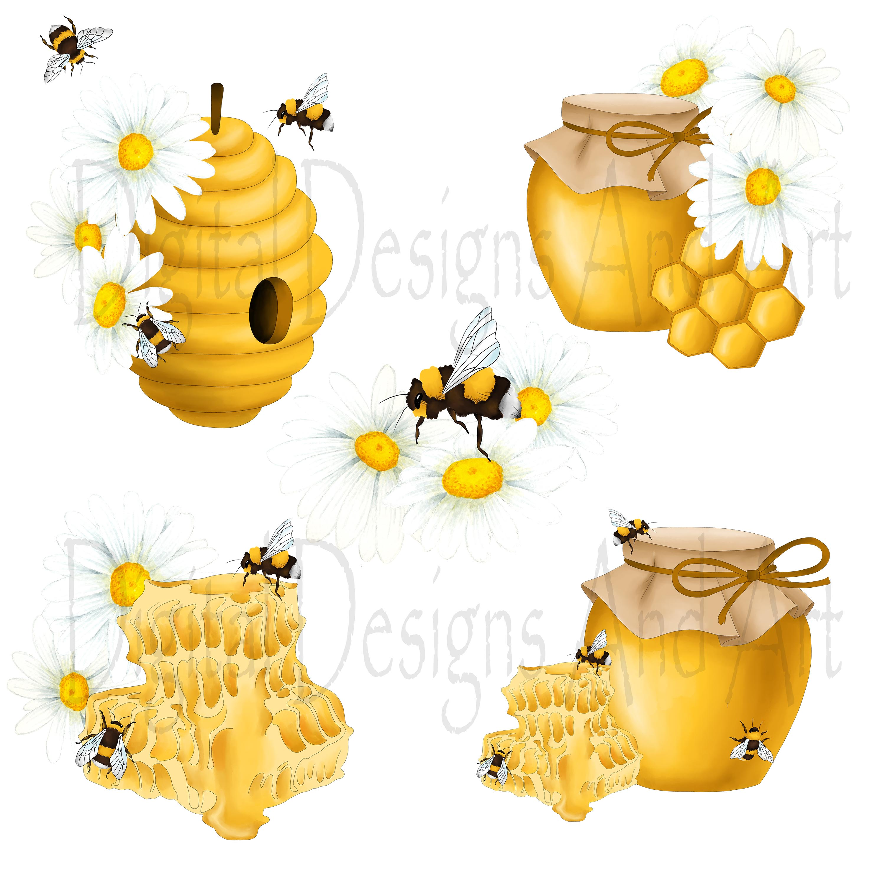 Honey bee clipart example image 3
