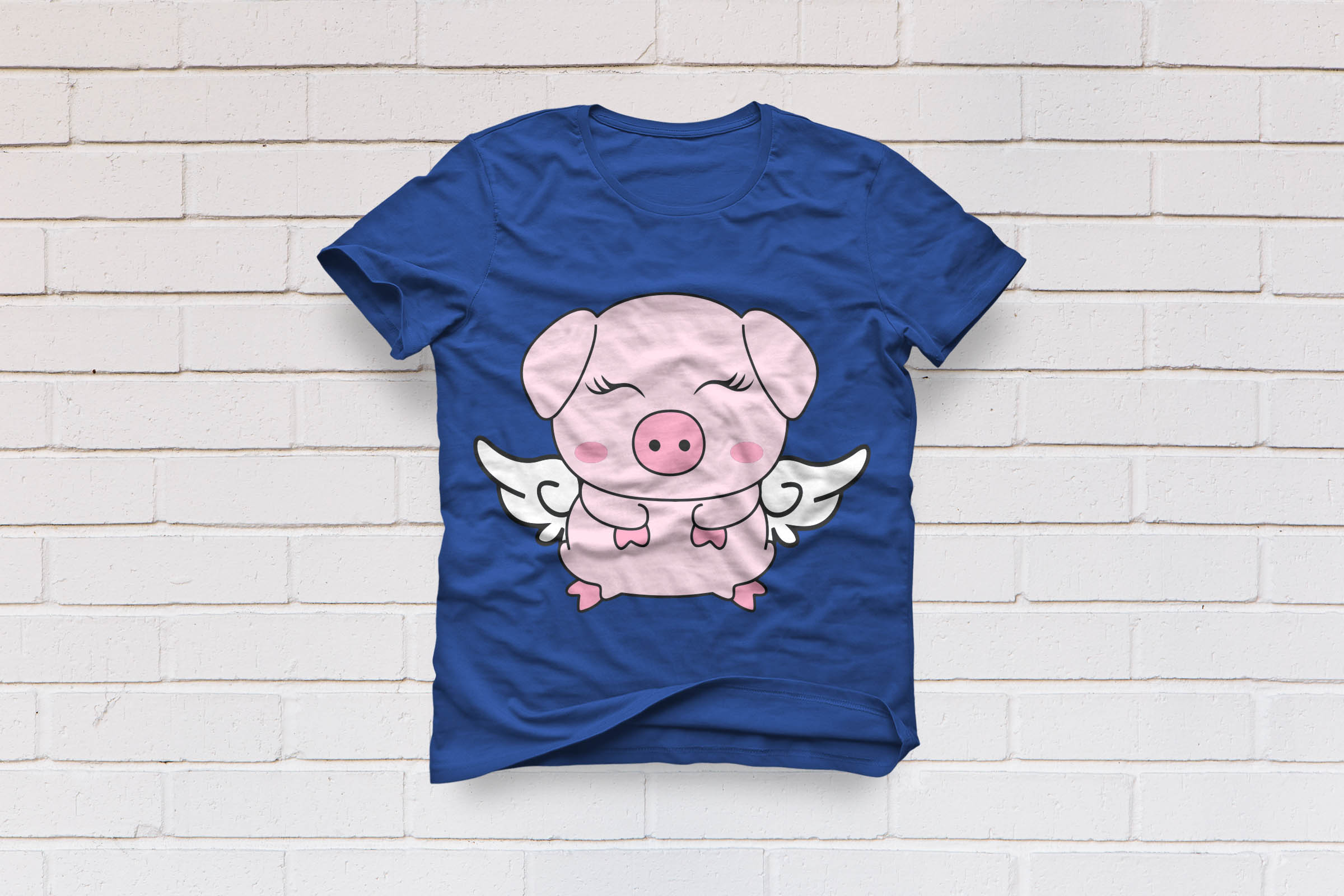 Show Pig With Wings Kids Eyelashes By S Design Bundles