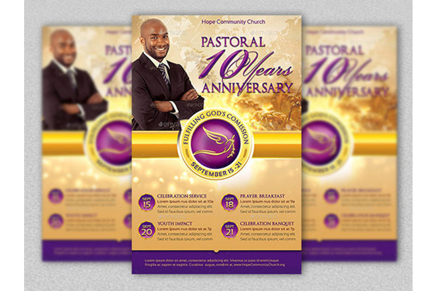 Clergy Anniversary Template Bundle example image 2