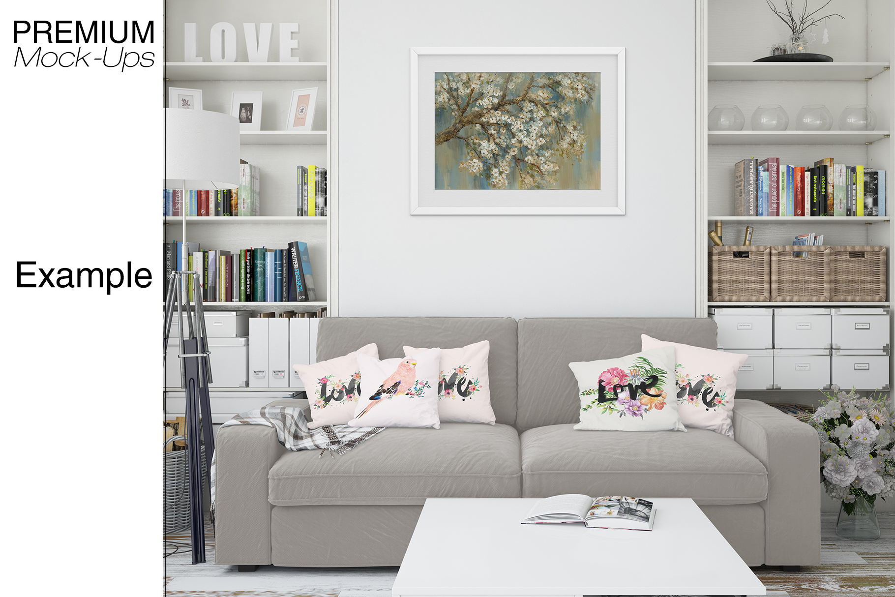 Pillows & Frames Mockup Set example image 14
