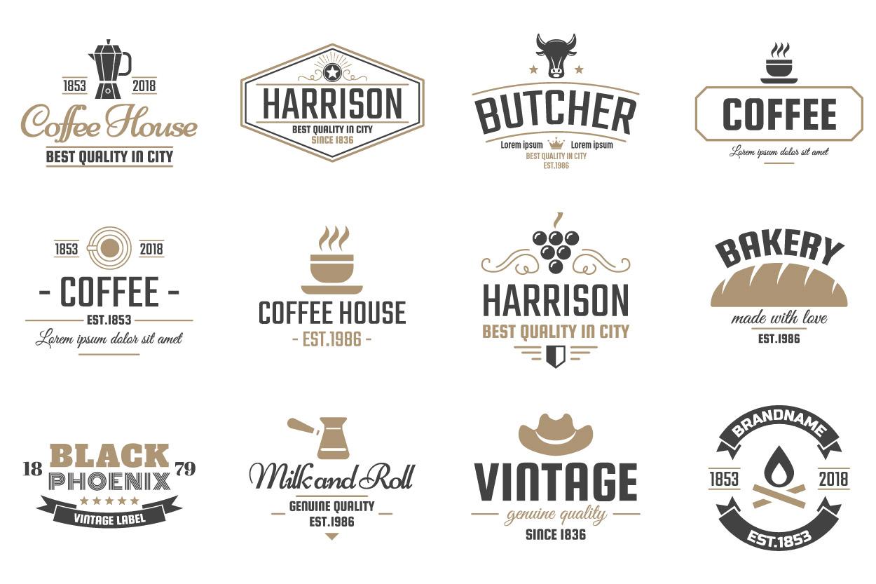 42  Vintage Logo Set example image 5