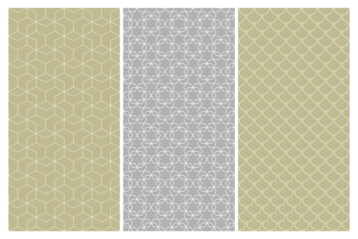 Geometric seamless symmetry patterns example image 10