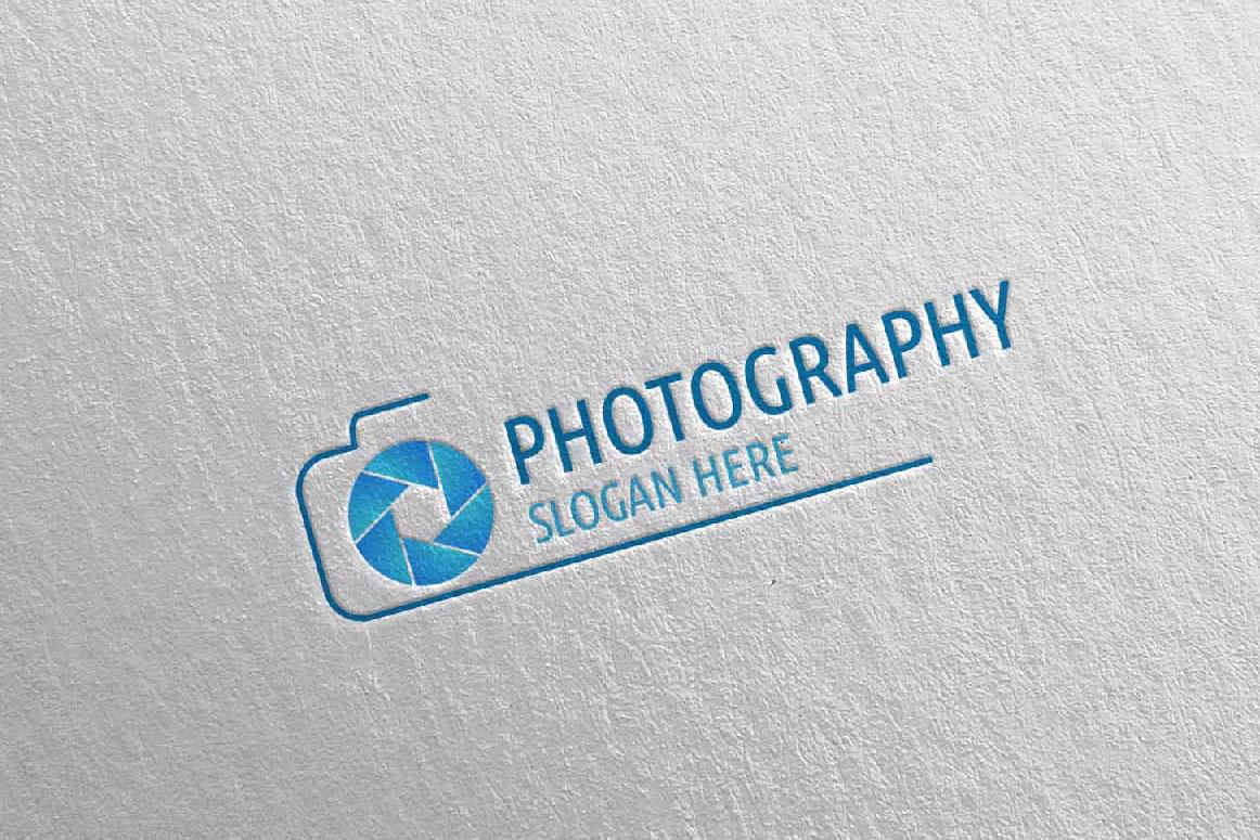 Abstract Camera Photography Logo 3 example image 3