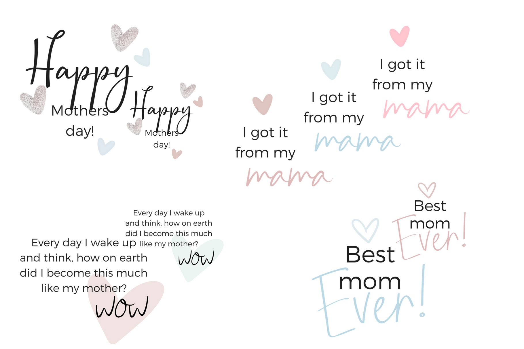 Mother's Day Lettering example image 3