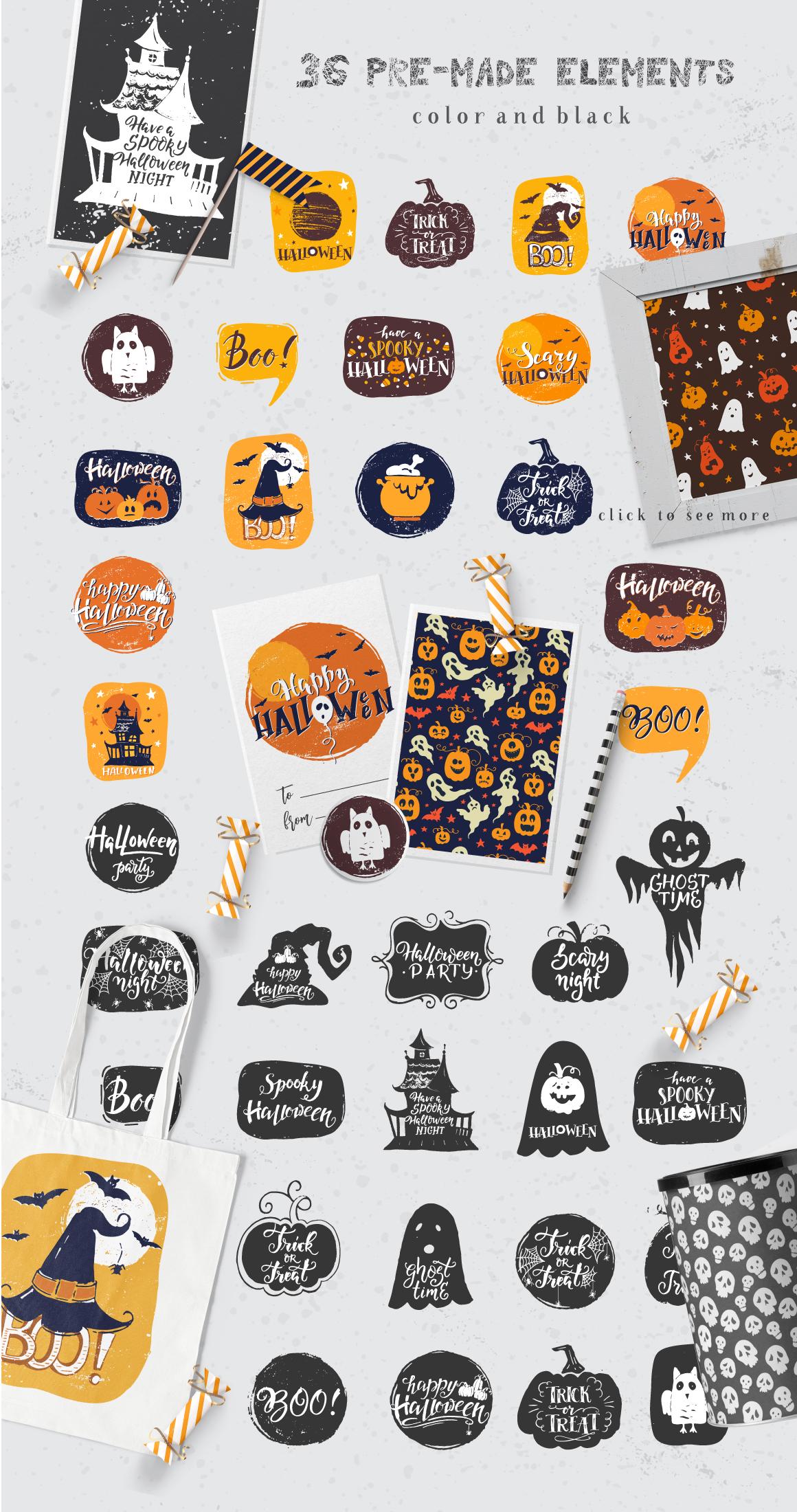 Halloween night Mega Pack! example image 4