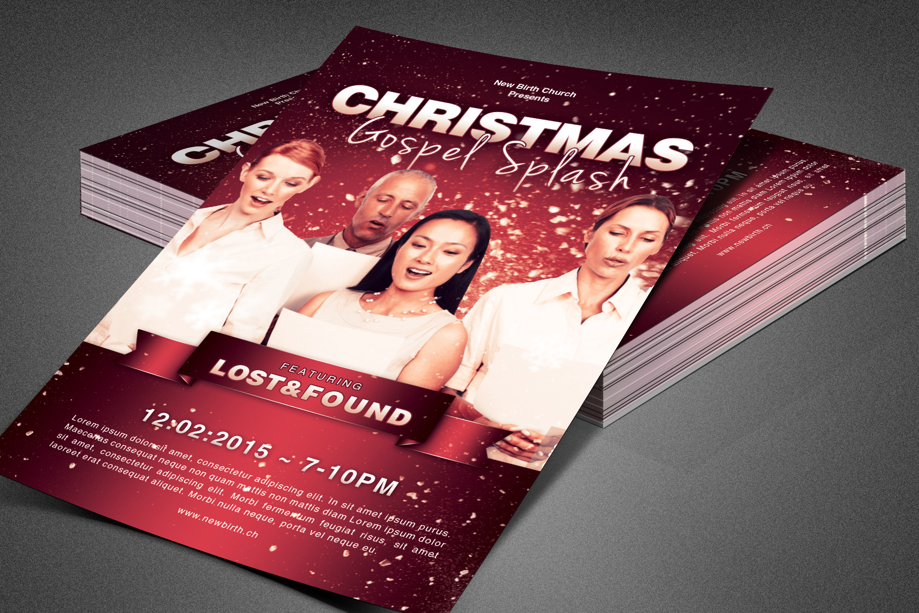 Christmas Gospel Splash Church Flyer example image 1