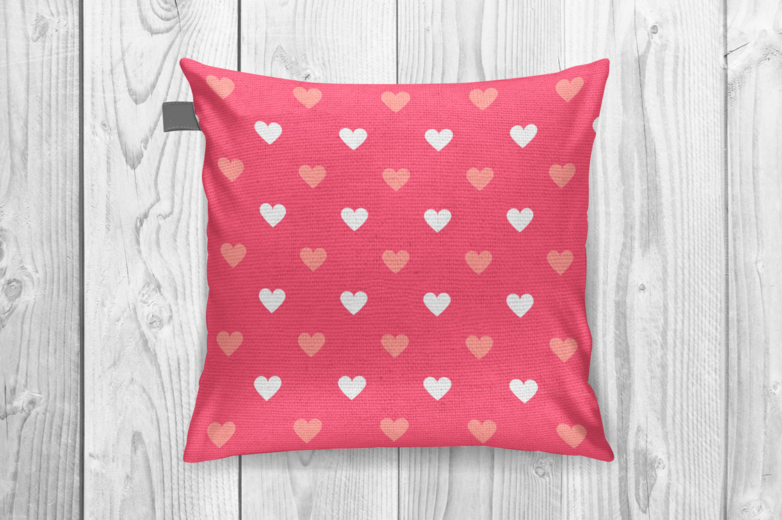 Vector seamless hearts patterns example image 2