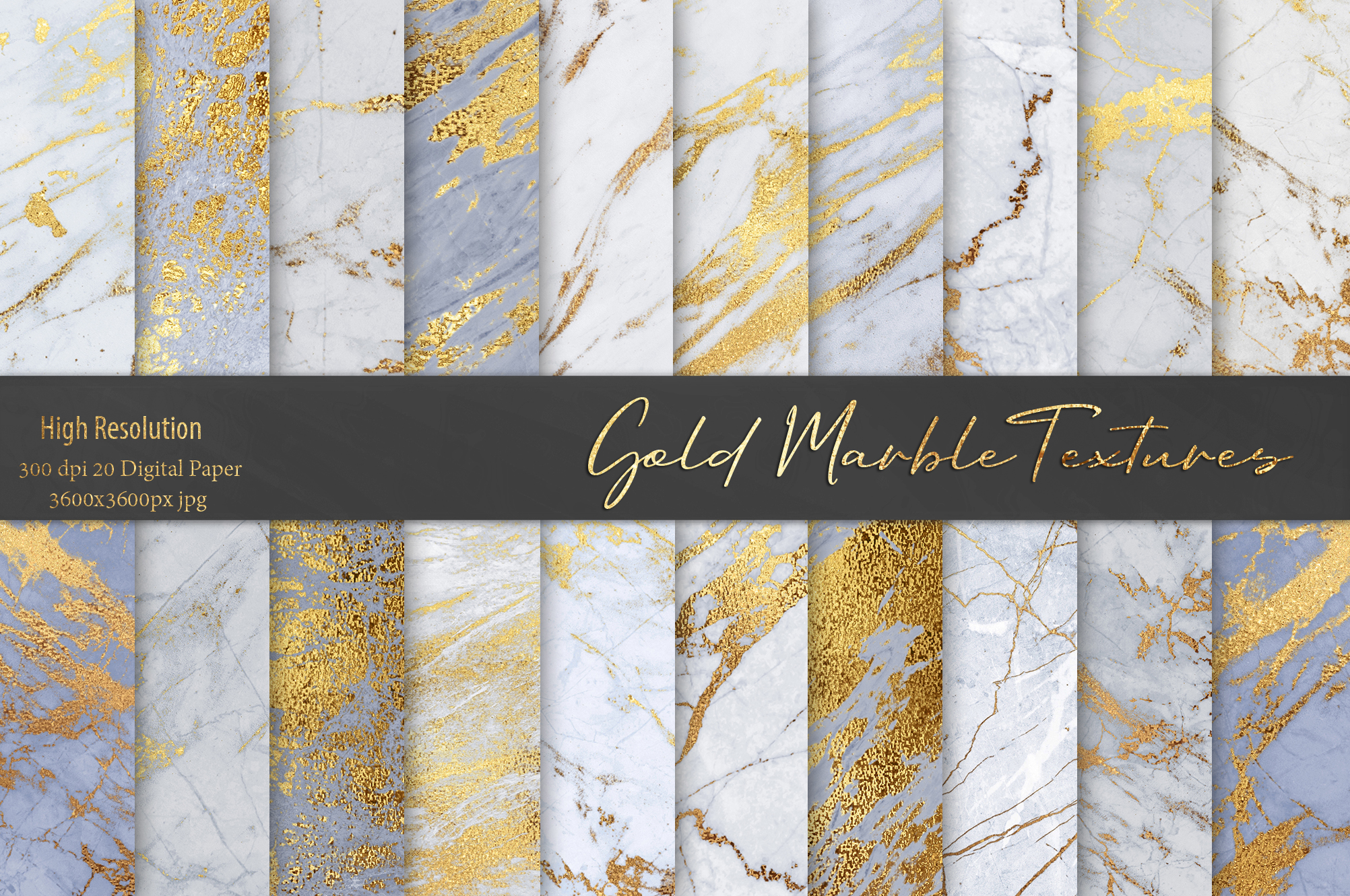Gold Marble Textures example image 1