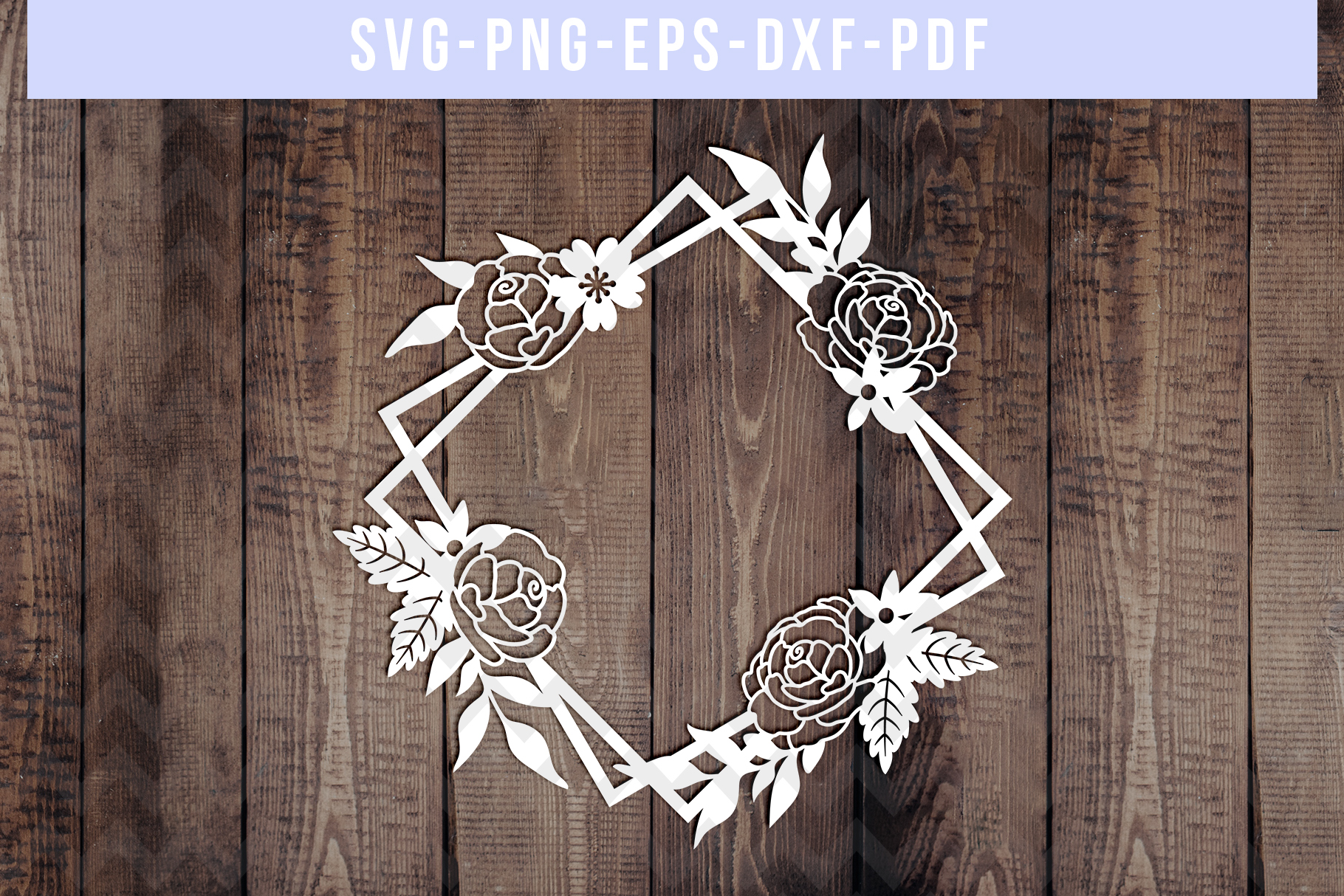 Bundle Of 9 Geometric Frame Papercut Templates, SVG, PDF DXF example image 6