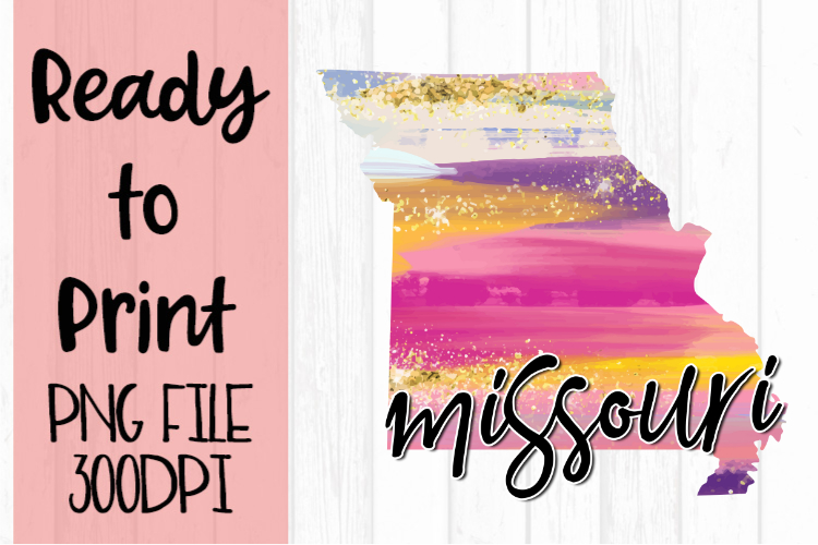 Missouri Painted States Ready to Print example image 1