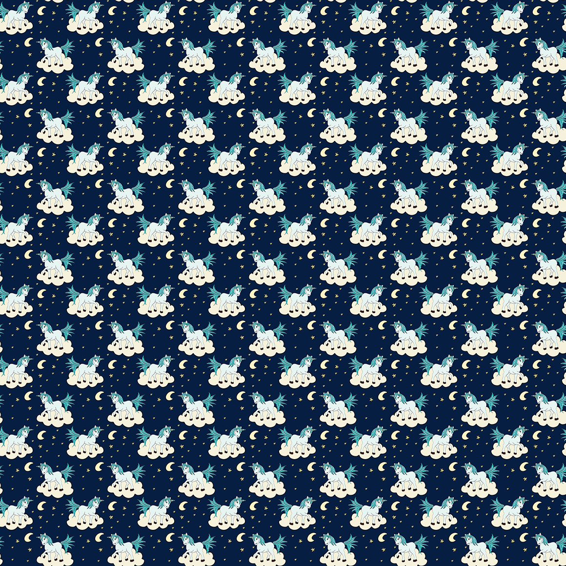 10 Unicorn Themed Seamless Patterns example image 2
