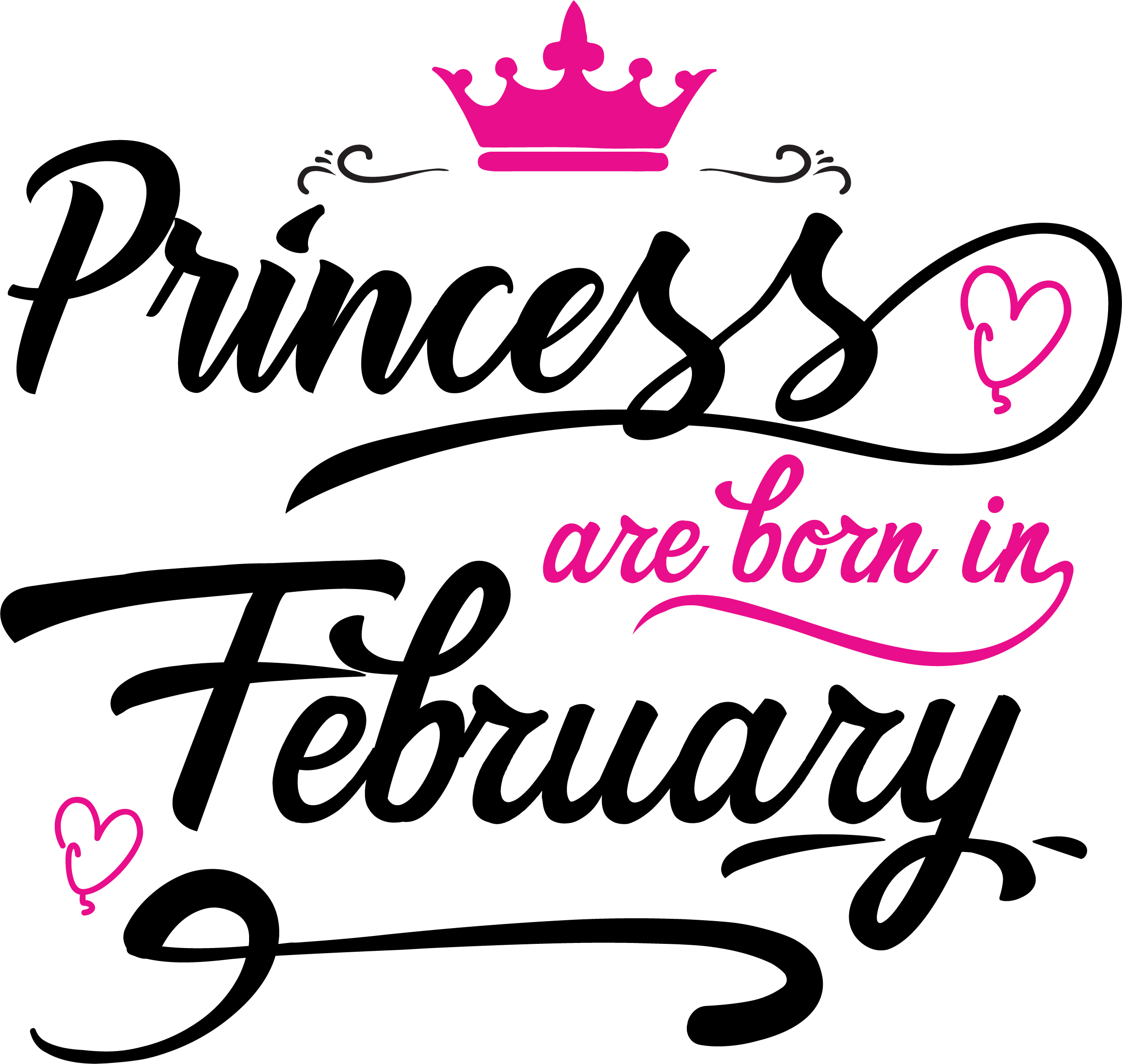 Princess are born in February Svg,Dxf,Png,Jpg,Eps vector file example image 2