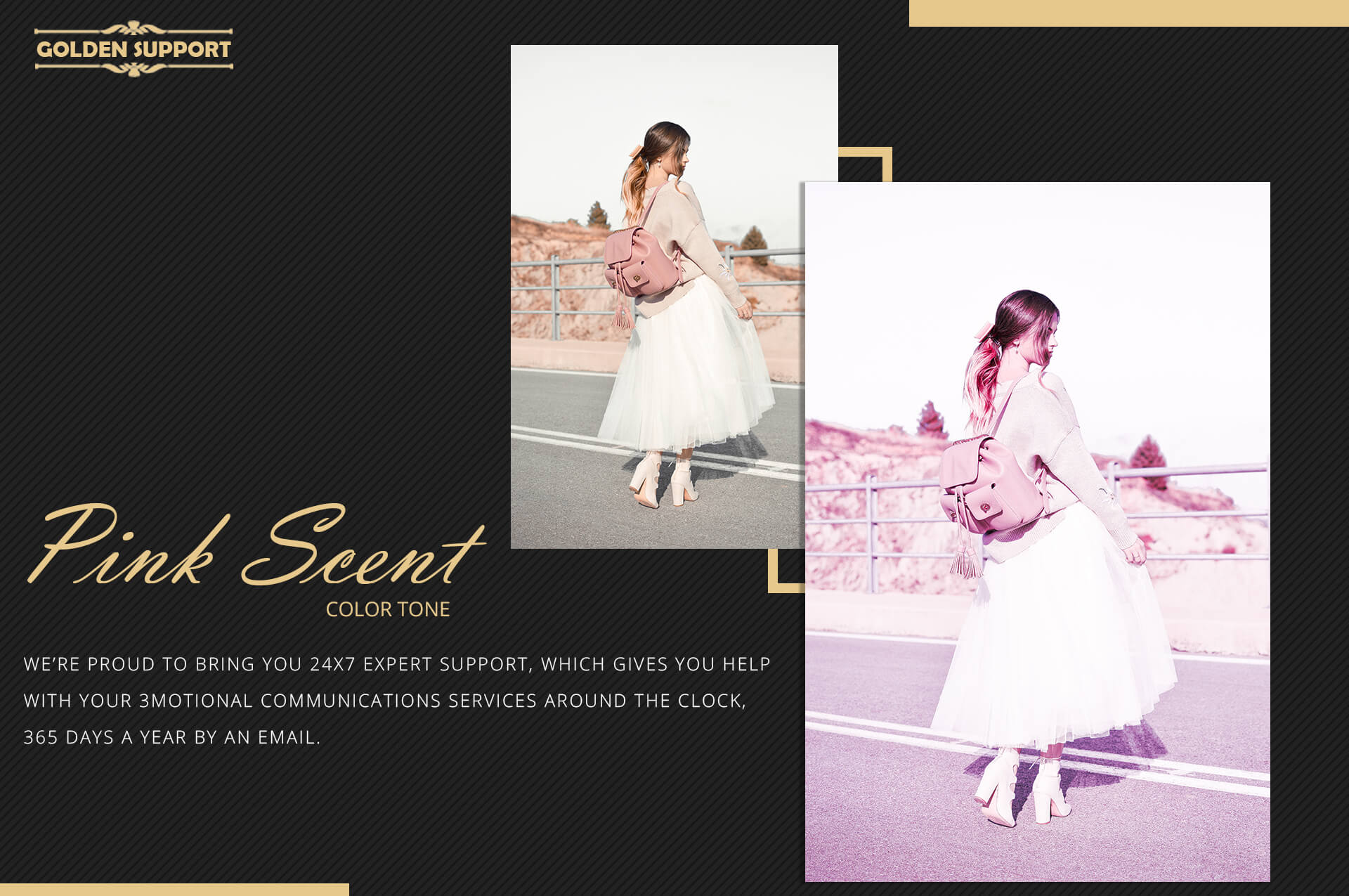 Neo Pink Scent Color Grading photoshop actions example image 9