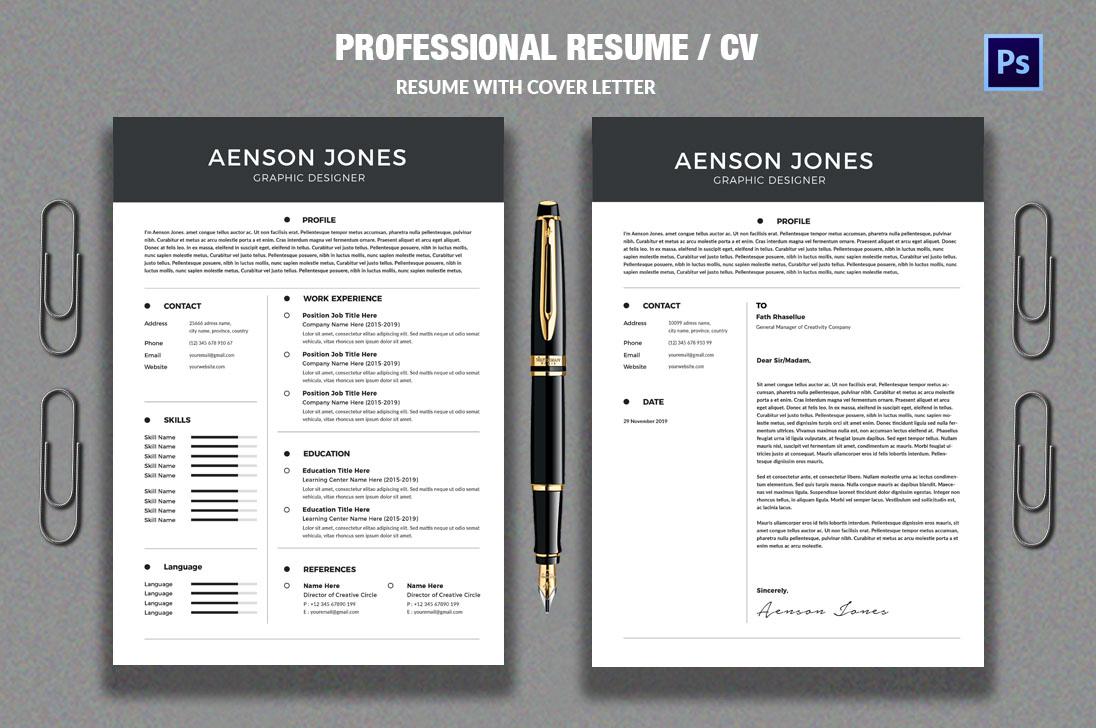 Resume/CV example image 1