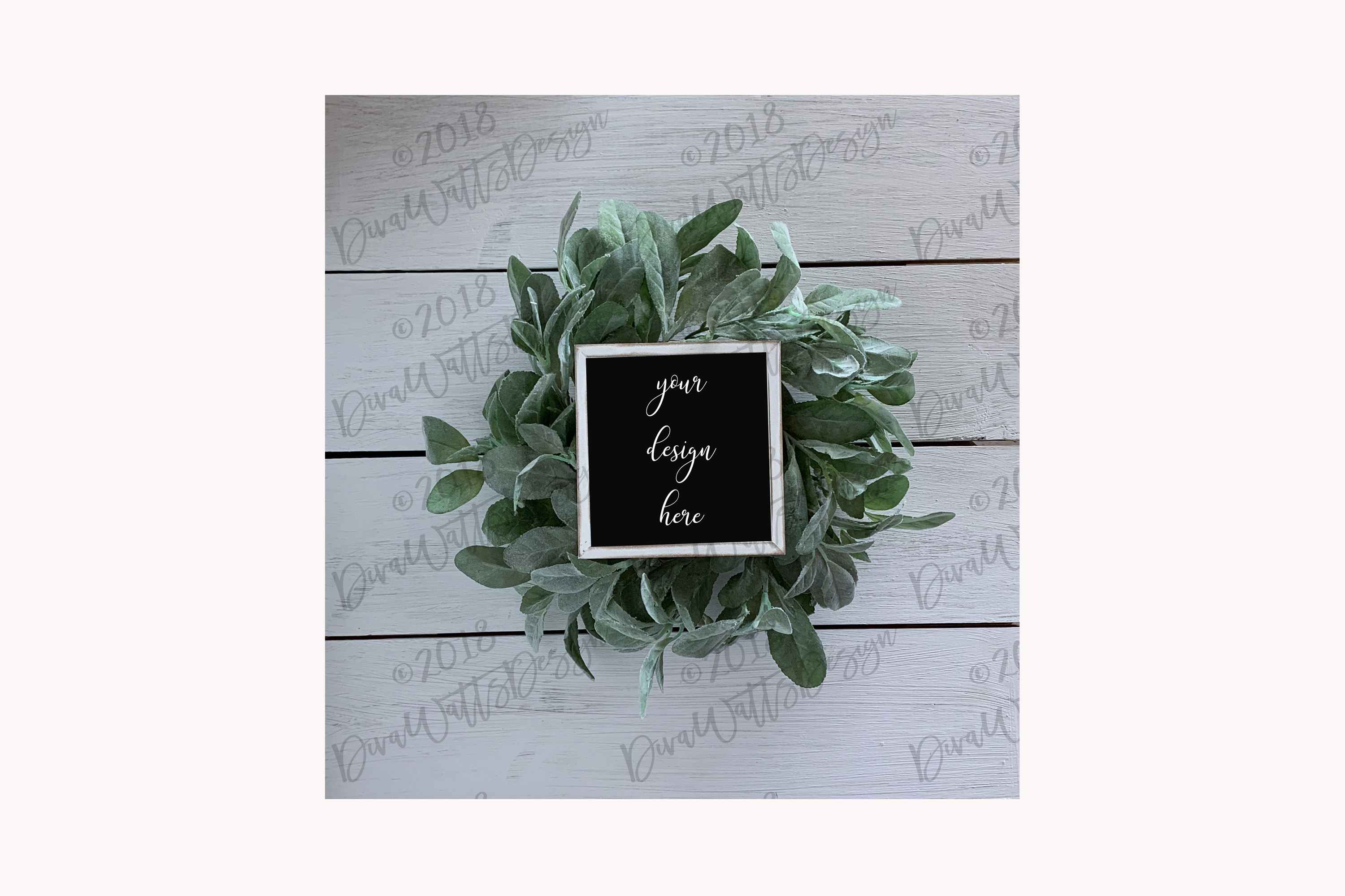 Farmhouse Wood Sign Mockup Mock-up Collection with Shiplap example image 2