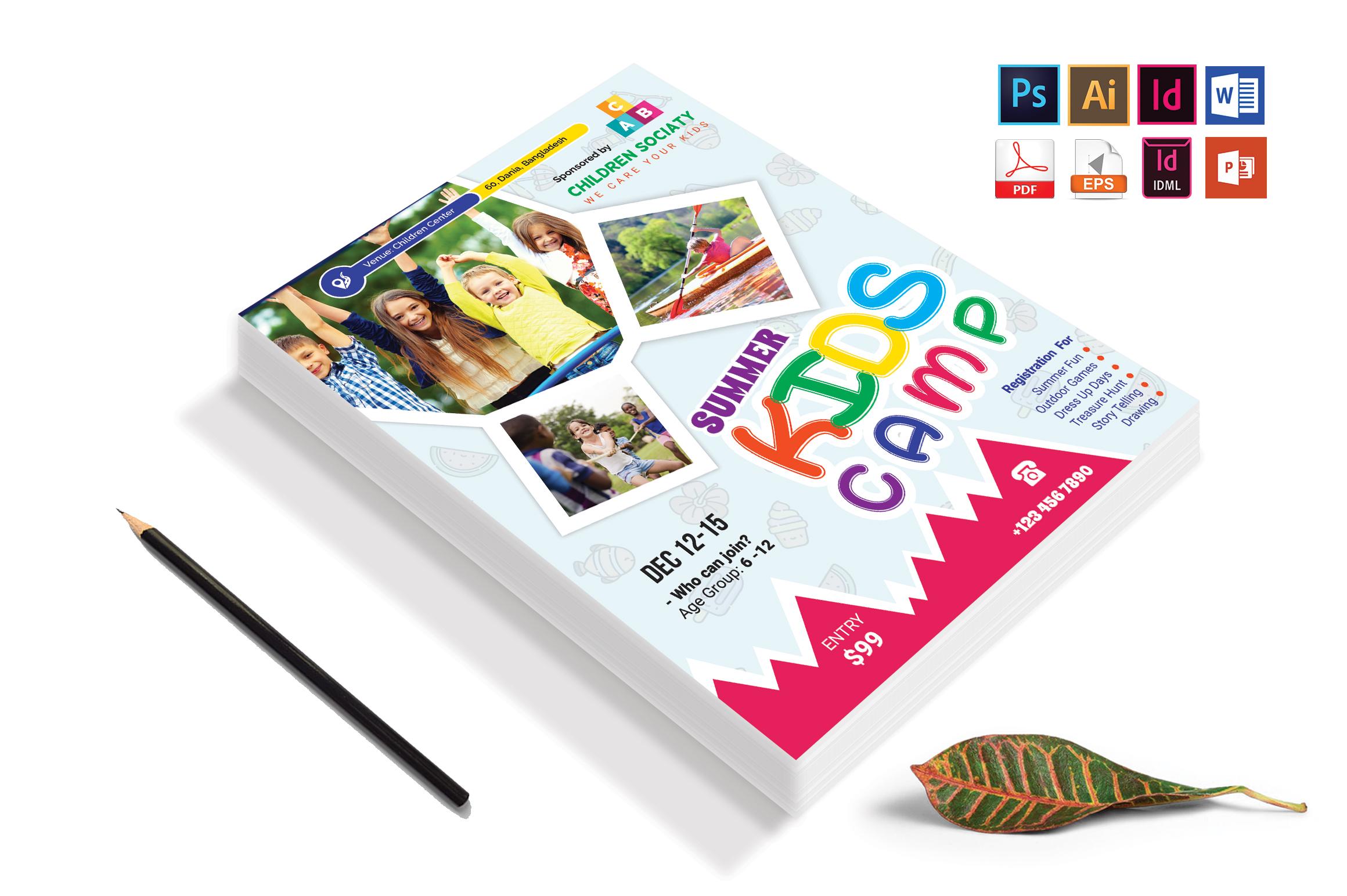 Kids Summer Camp Flyer Vol-05 example image 4
