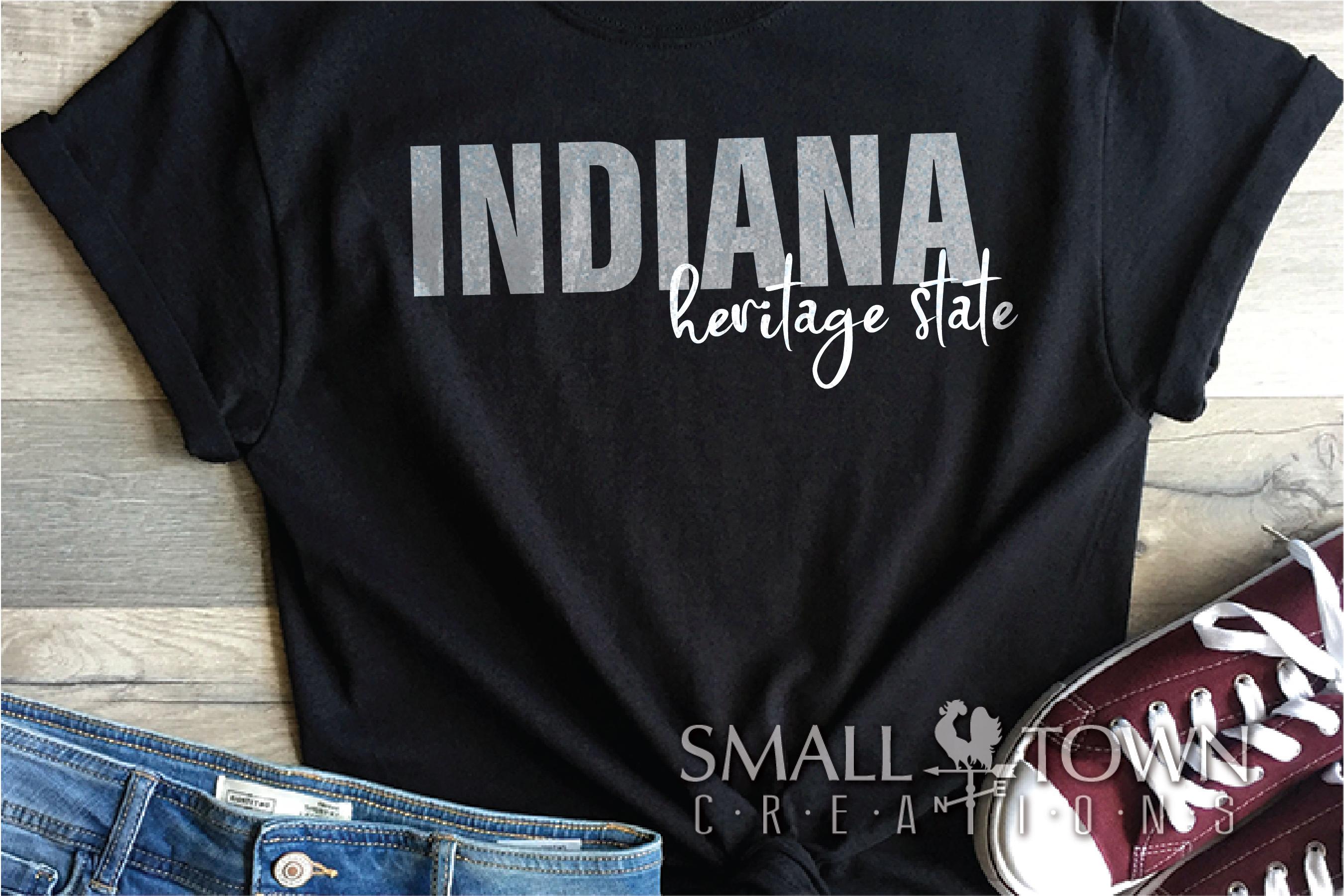 Indiana, Heritage state - slogan, Logo, PRINT, CUT & DESIGN example image 4