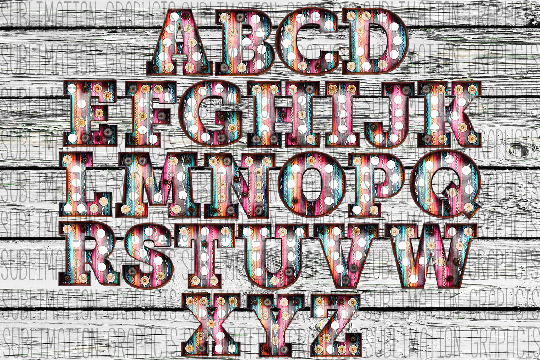 Serape Marquee Alphabet 2 example image 1