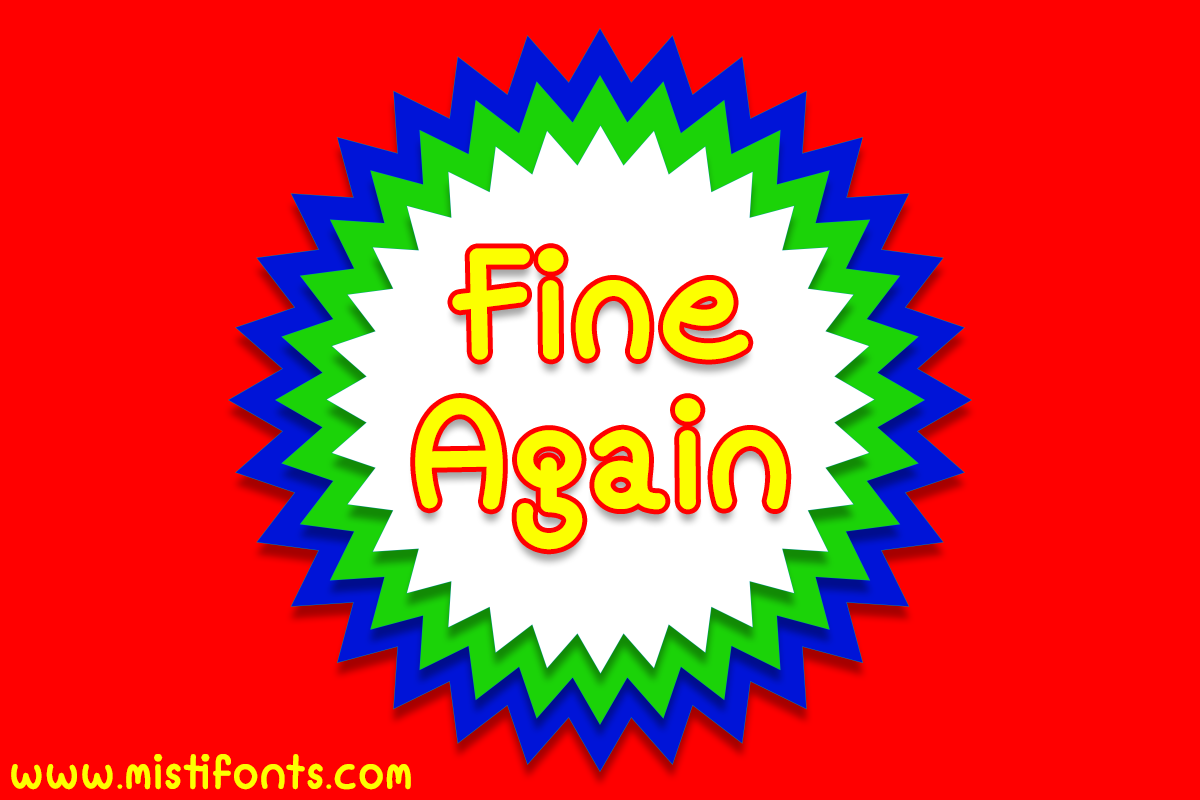 Fine Again example image 1