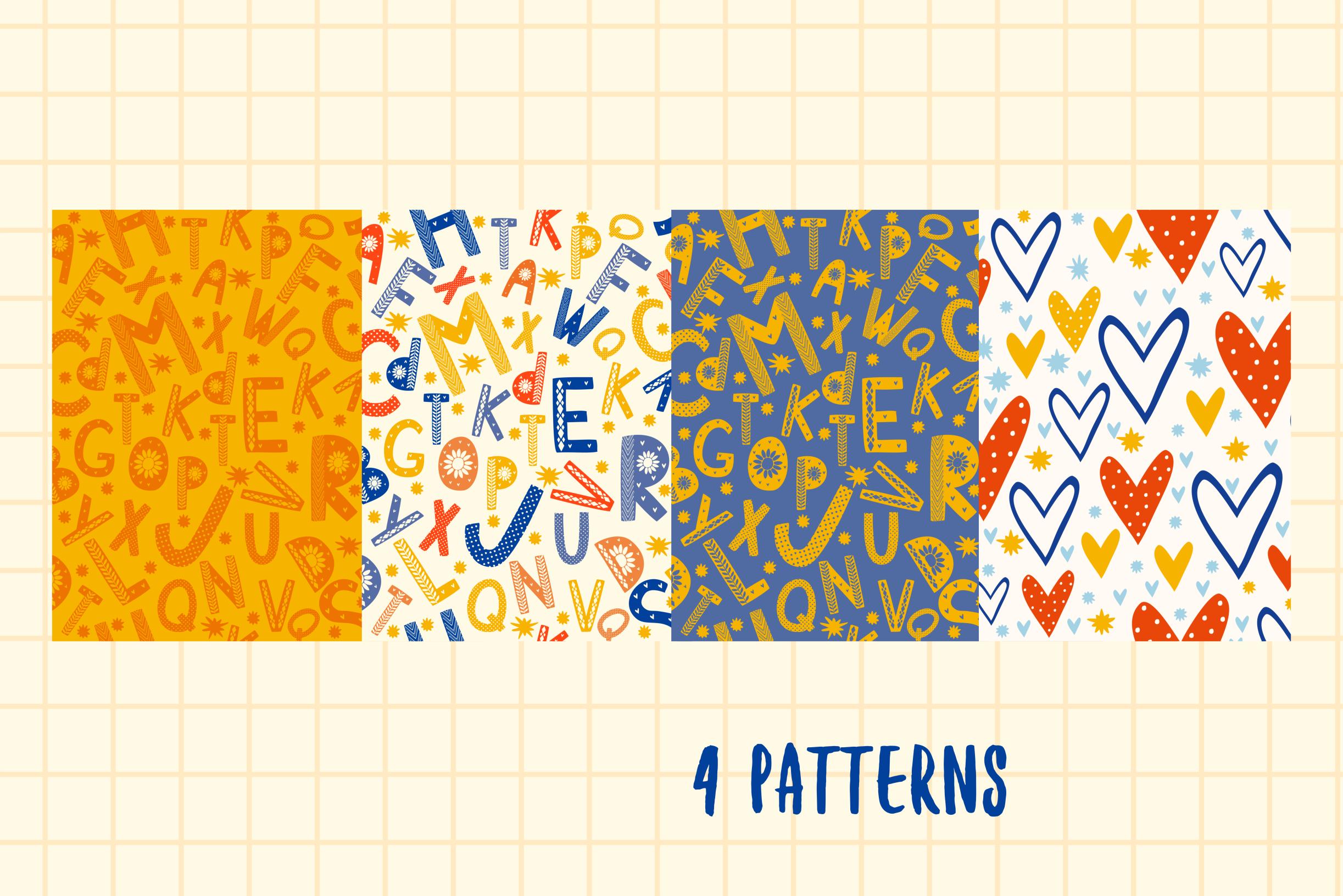 Color Scandinavian style. vector alphabet example image 3