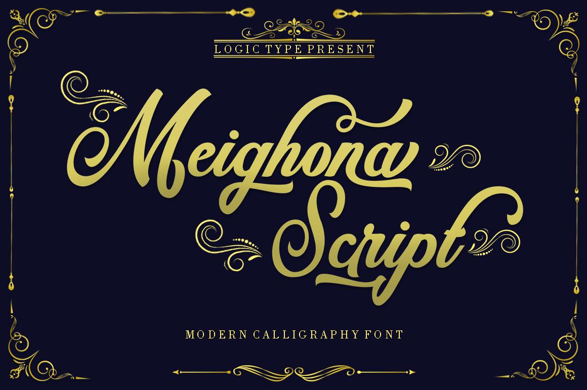 Meighoena Script example image 10