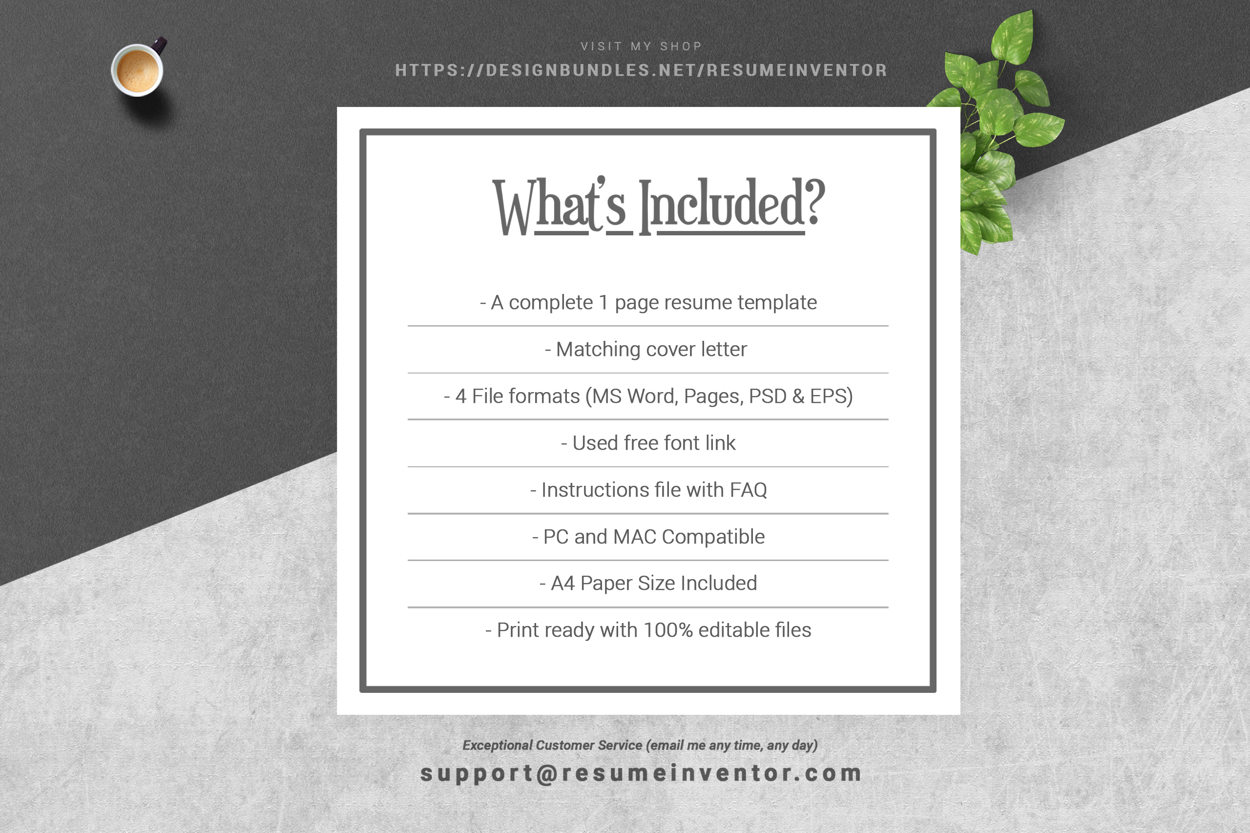Professional Resume Template | MS Word CV Design Template example image 5