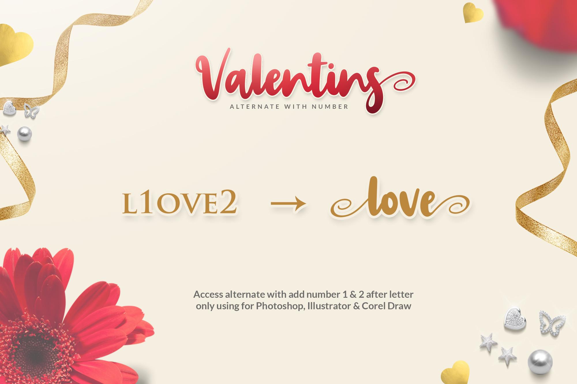Valentins Plus Bonus 2 Font example image 7