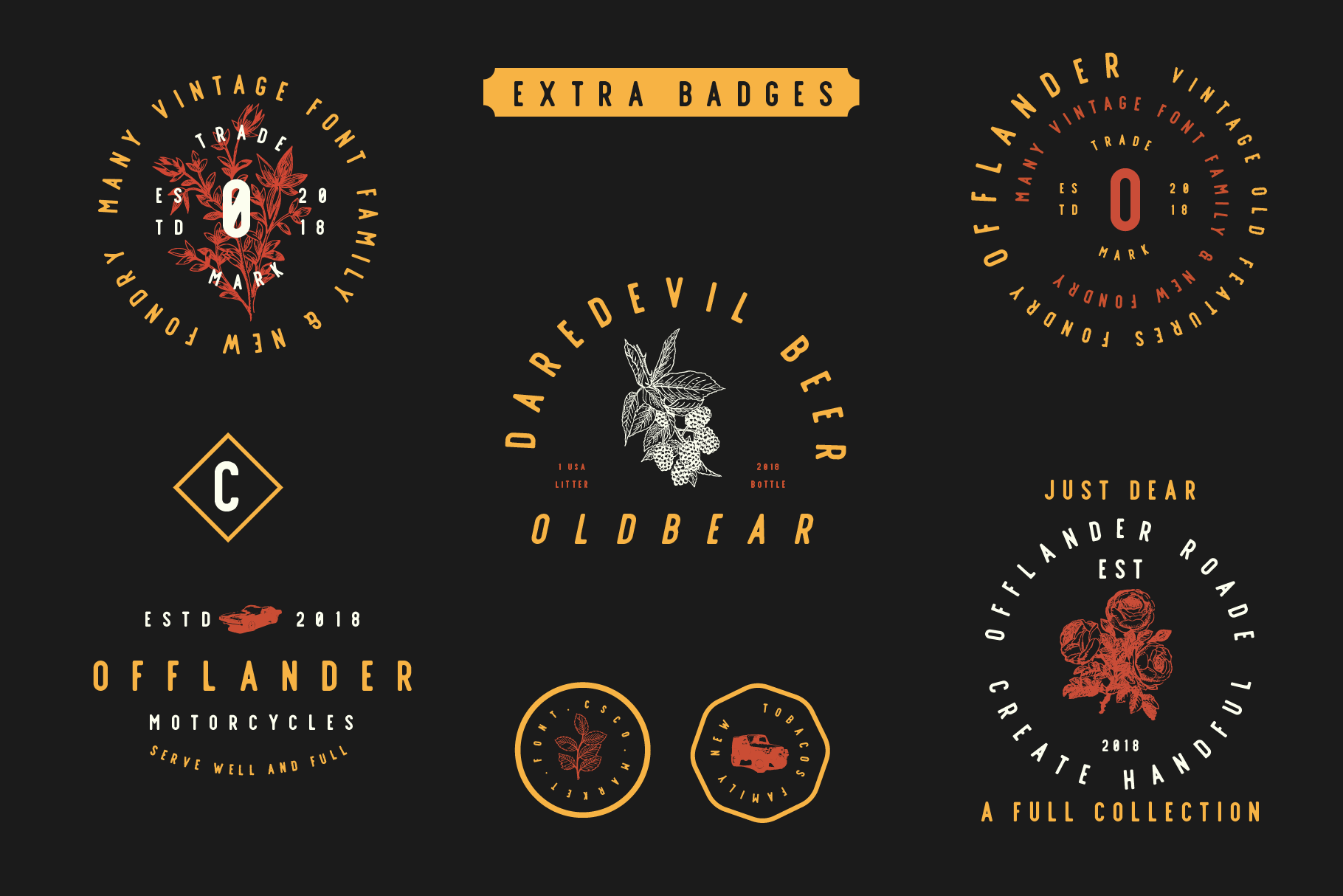 Offlander - Font Family example image 3