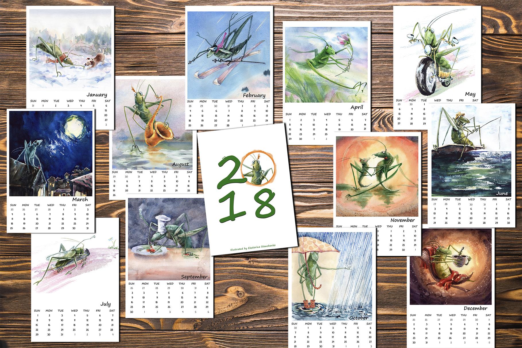 Calendar 2018 example image 3