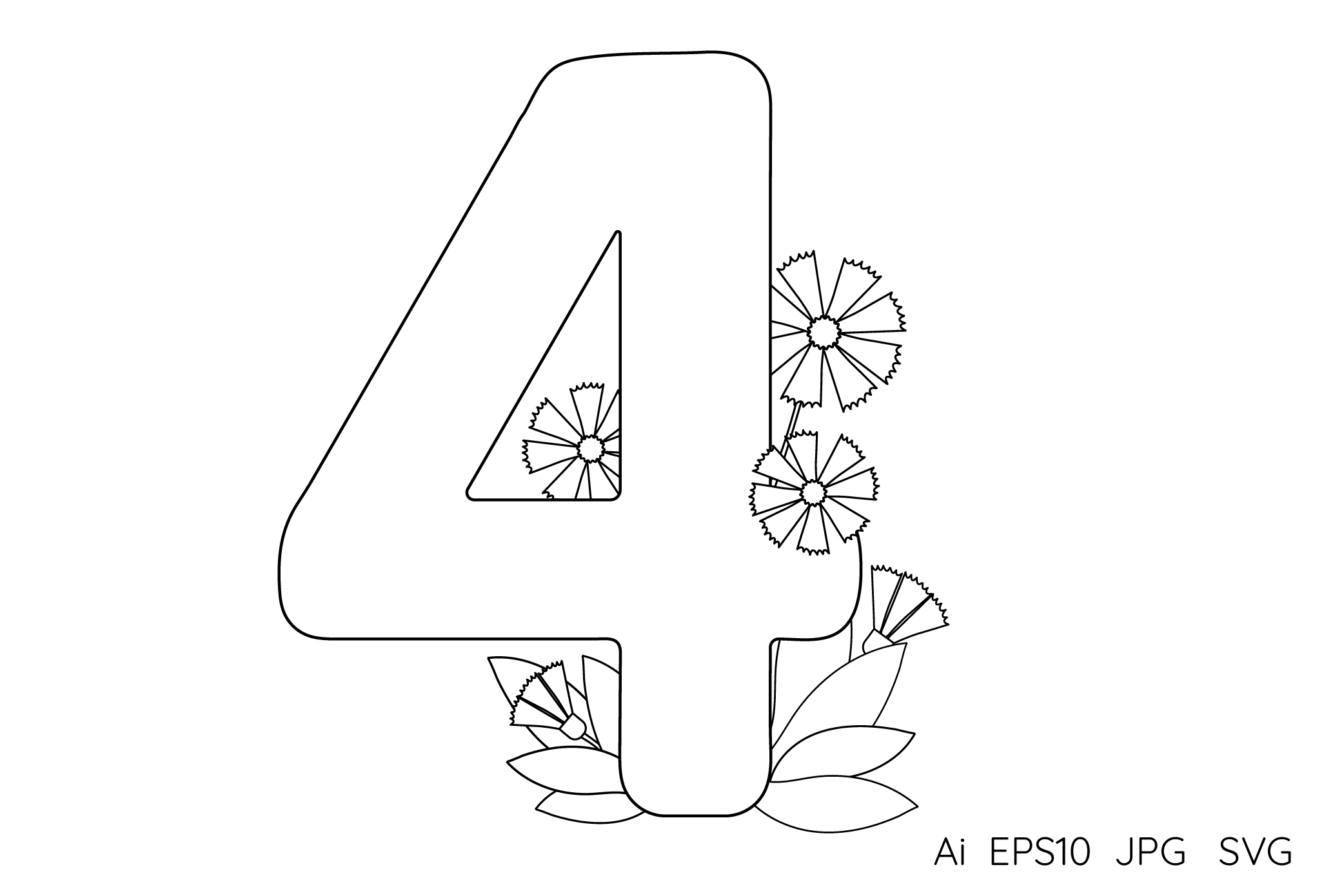Numbers from 0 to 9. Coloring pages. example image 6