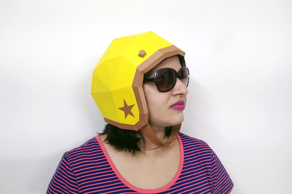 DIY Vintage Helmet - 3d papercrafts example image 1