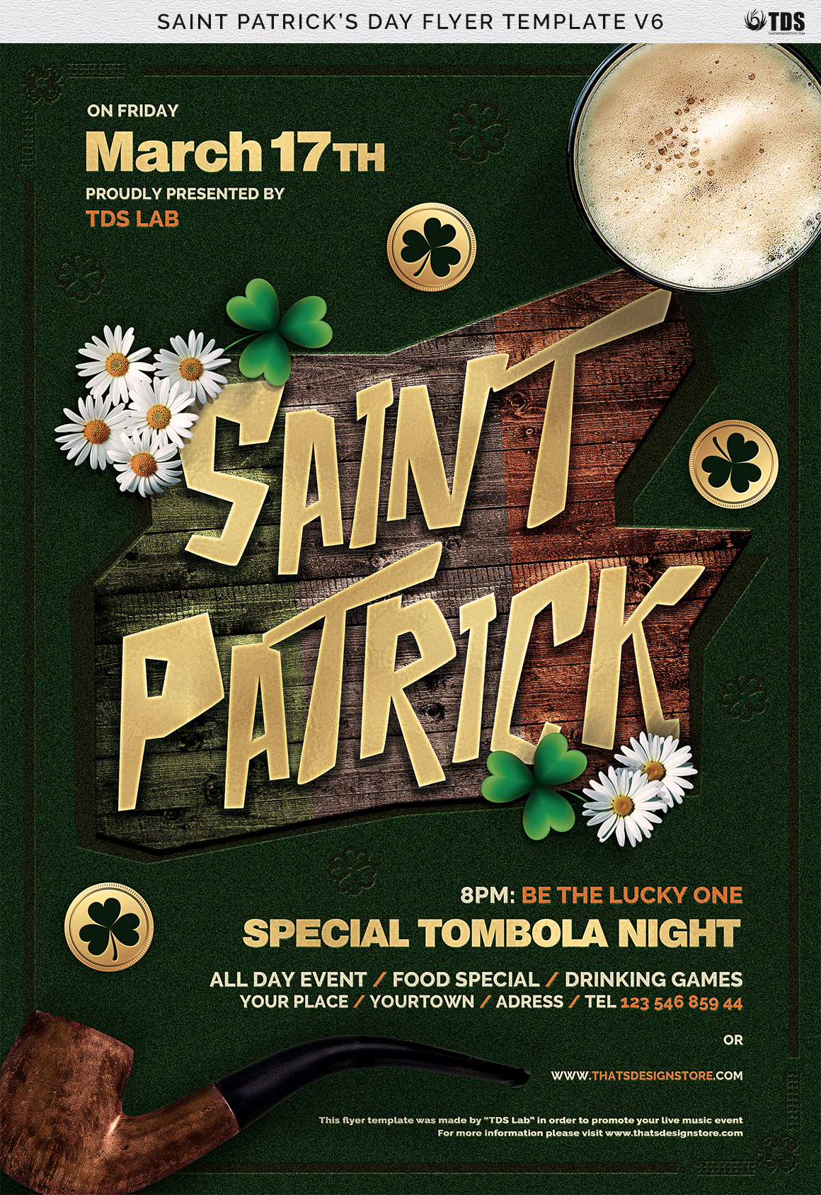 Saint Patricks Day Flyer Template V6 example image 7