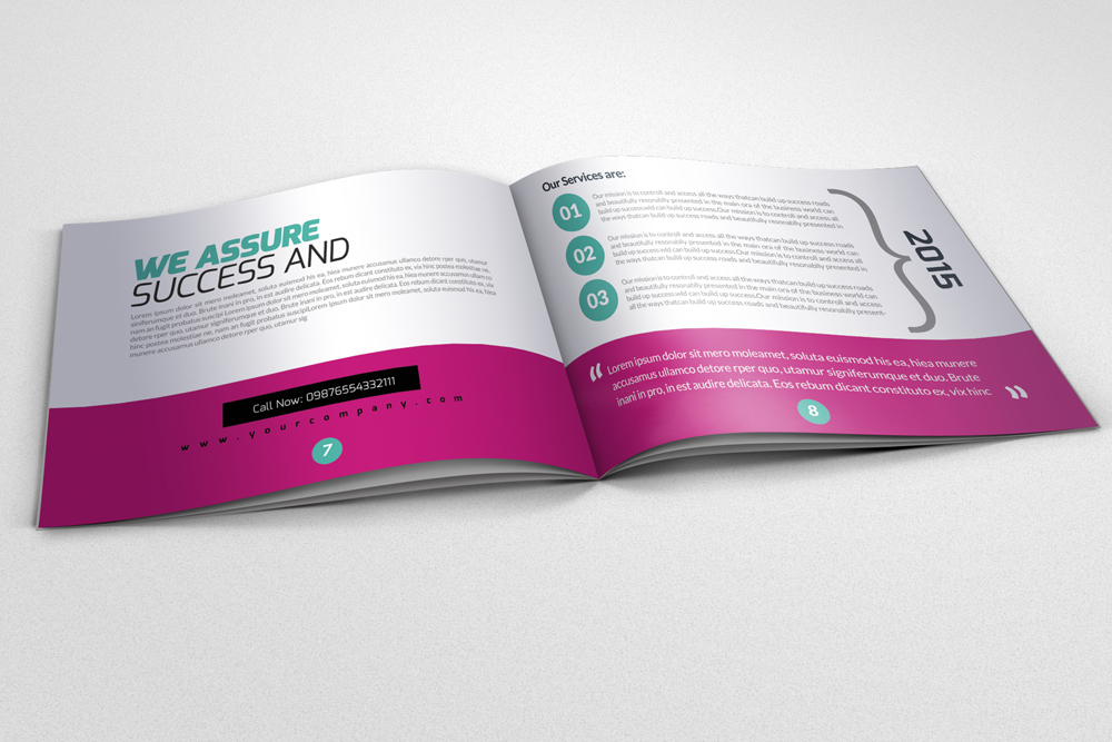 20 Pages Multi Use Minimal Square Brochure example image 2