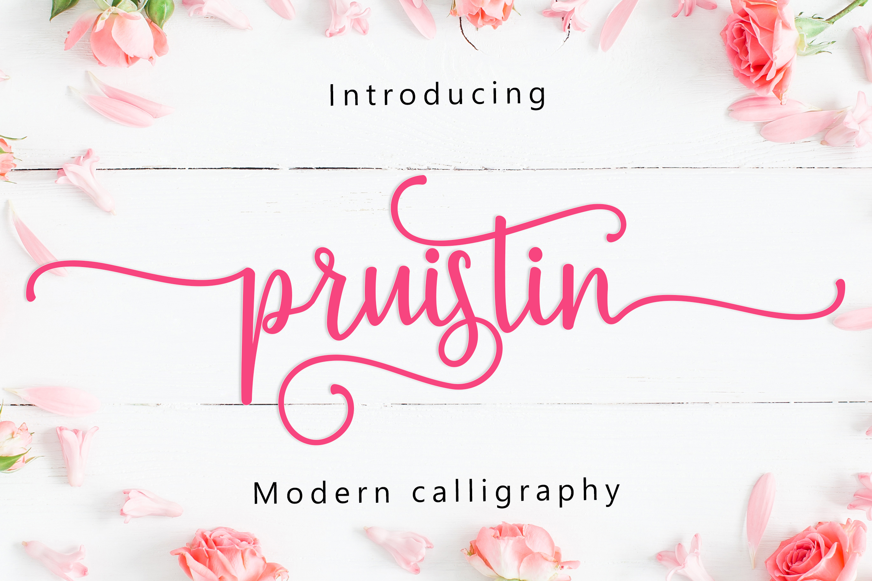 Pruistin Script example image 2