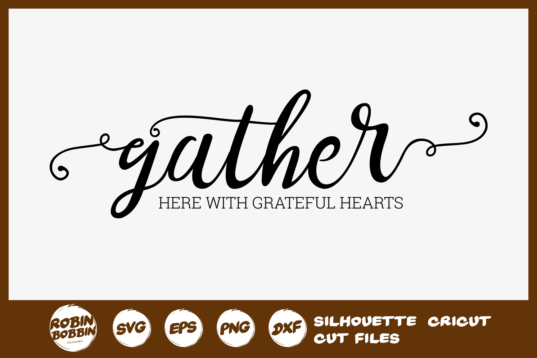 Gather SVG File - Fall Farmhouse SVG example image 1