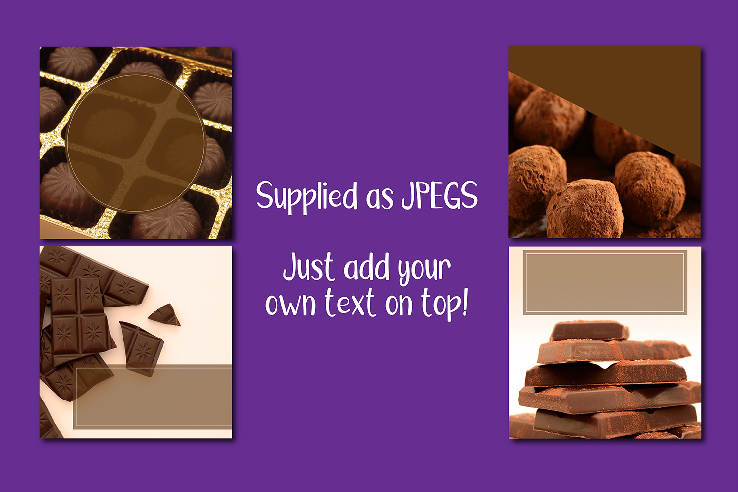 Chocolate Candy Bar Instagram and Facebook Food Backgrounds example image 2