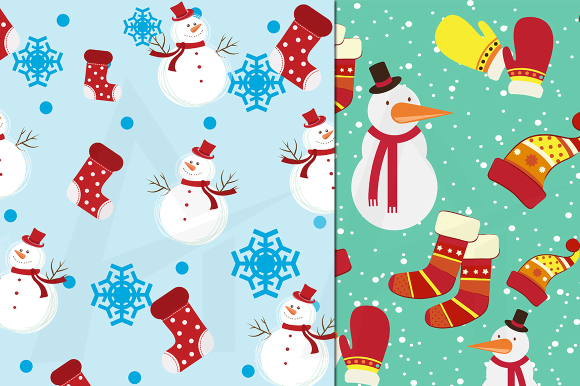 christmas digital papers, winter digital papers, christmas pattern, winter patterns, high quality 300 dpi, 12 x 12 inch , and 8.5 x 11 inch example image 3