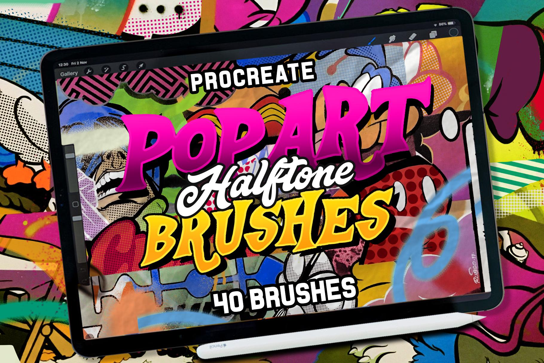 POP ART BRUSHES KIT FOR PROCREATE example image 1