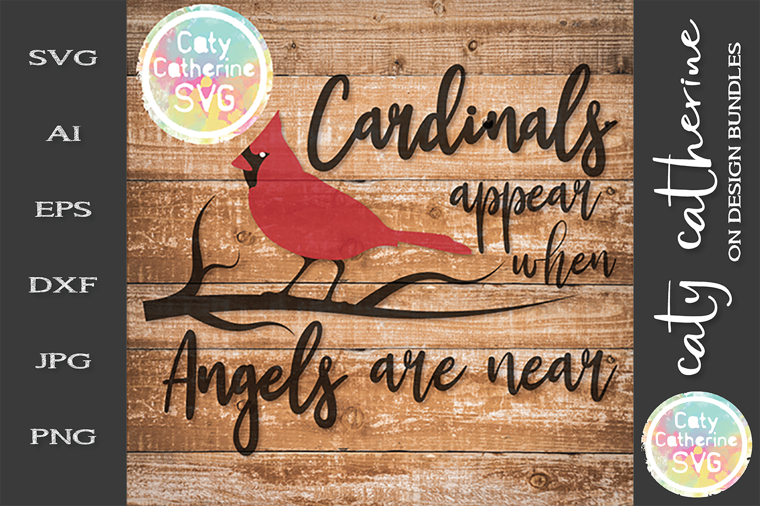 Cardinals Appear When Angels Are Near Remembrance SVG example image 1