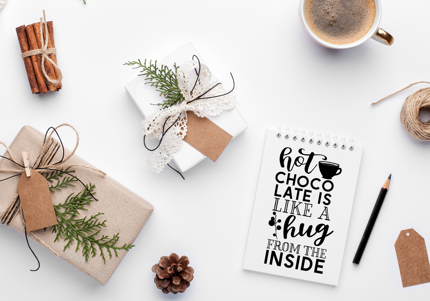 Winter Quote Cut File Bundle example image 7