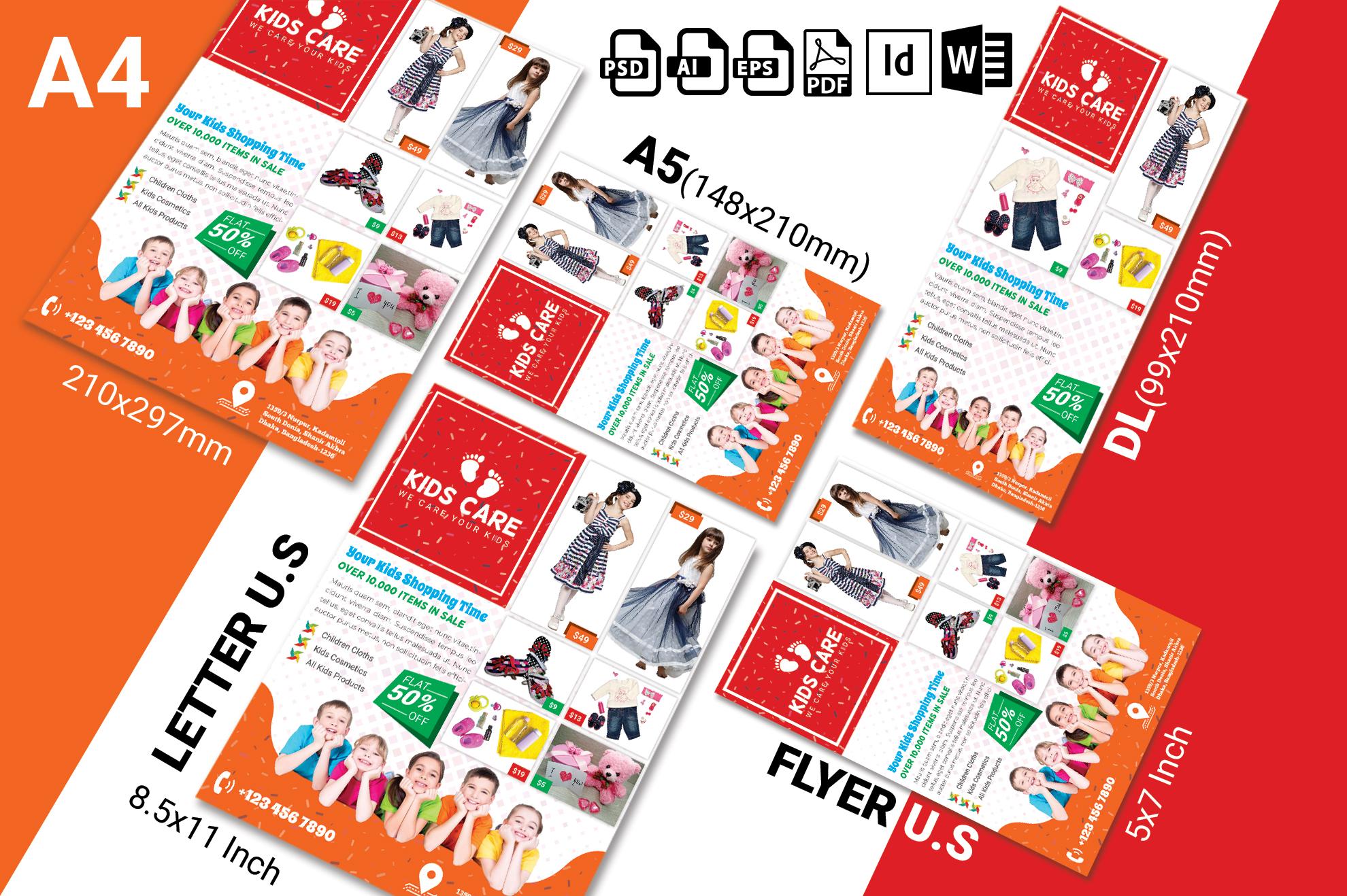 Kids Fashion Shop Flyer Vol-03 example image 2