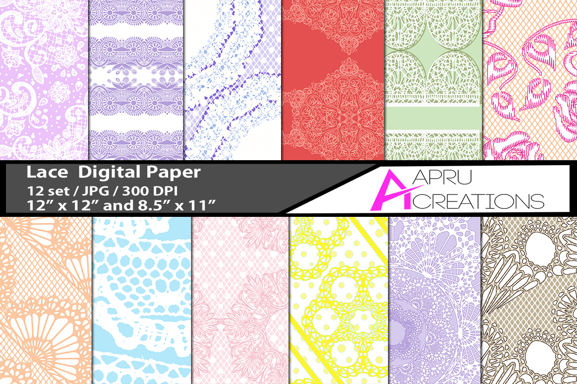 Lace papers and patterns example image 1