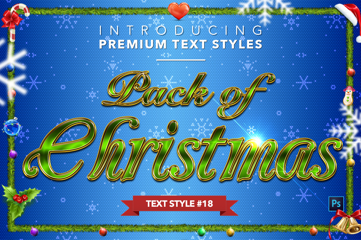 Christmas Pack #2 - 20 Text Styles example image 19