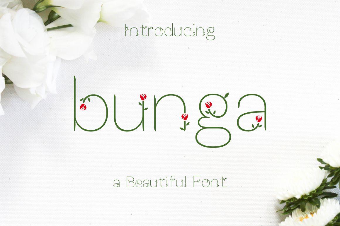Bunga font example image 1