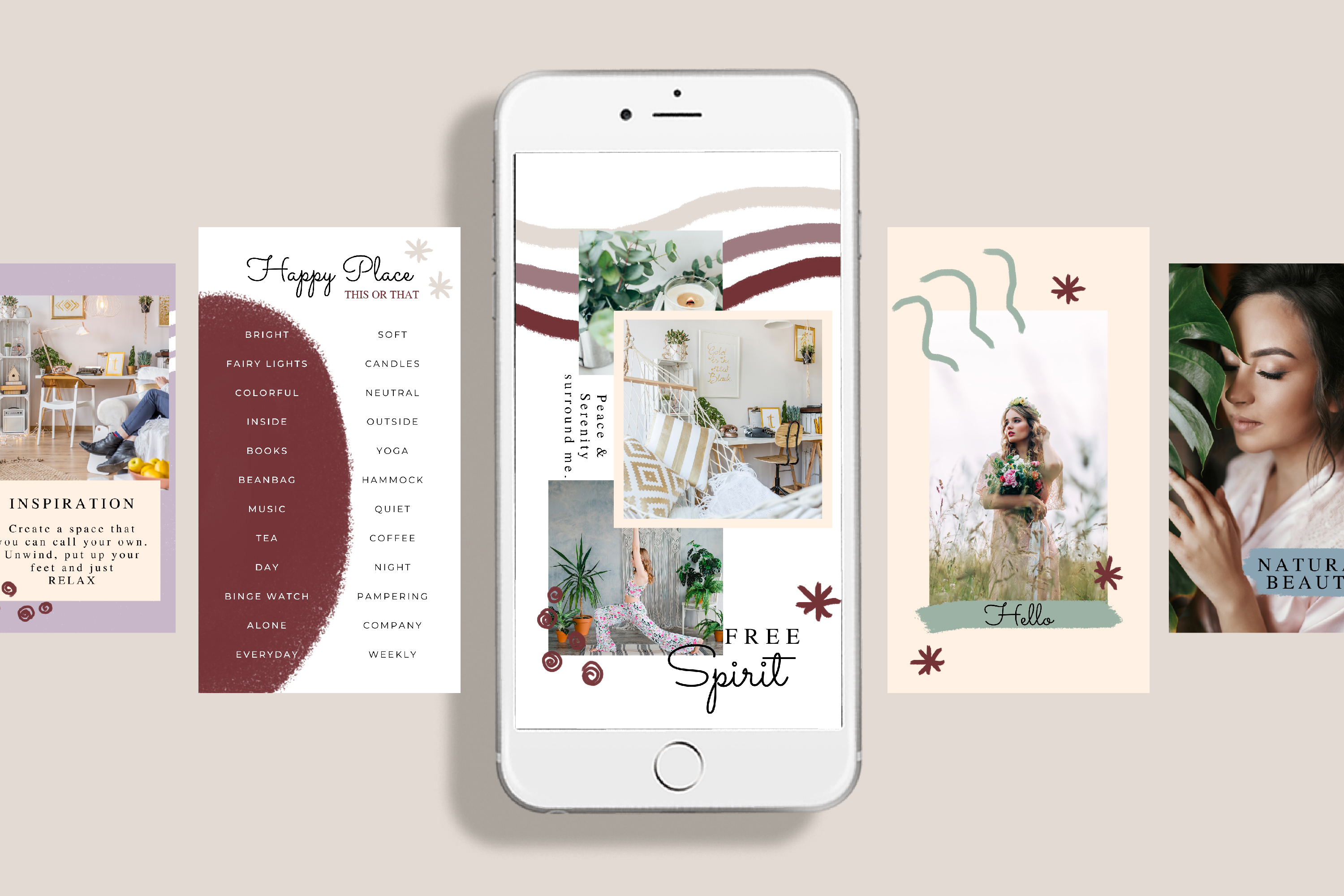 Instagram Story Canva Template - Free Spirit example image 2