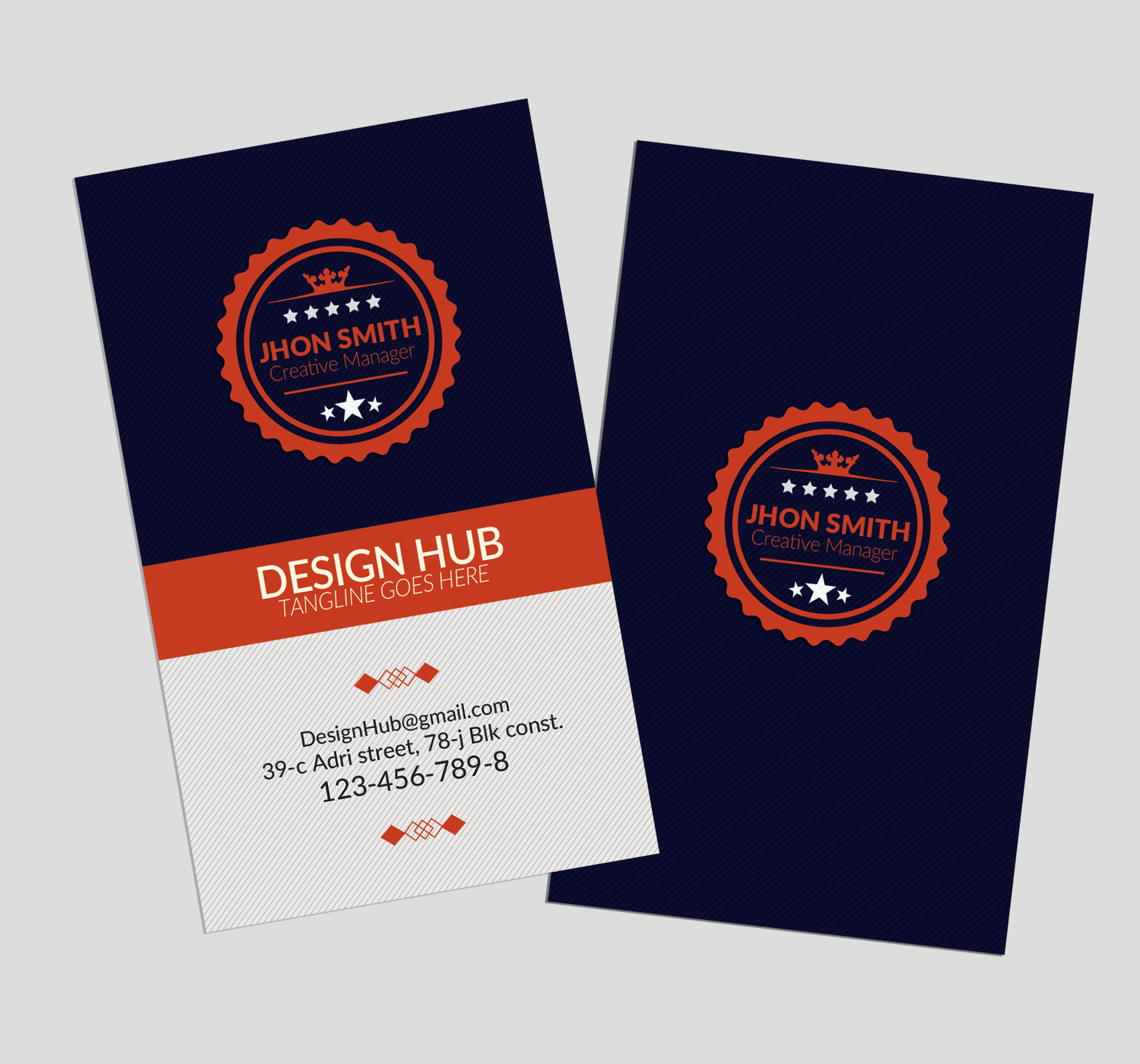 Retro Vintage Vertical Business Card example image 3