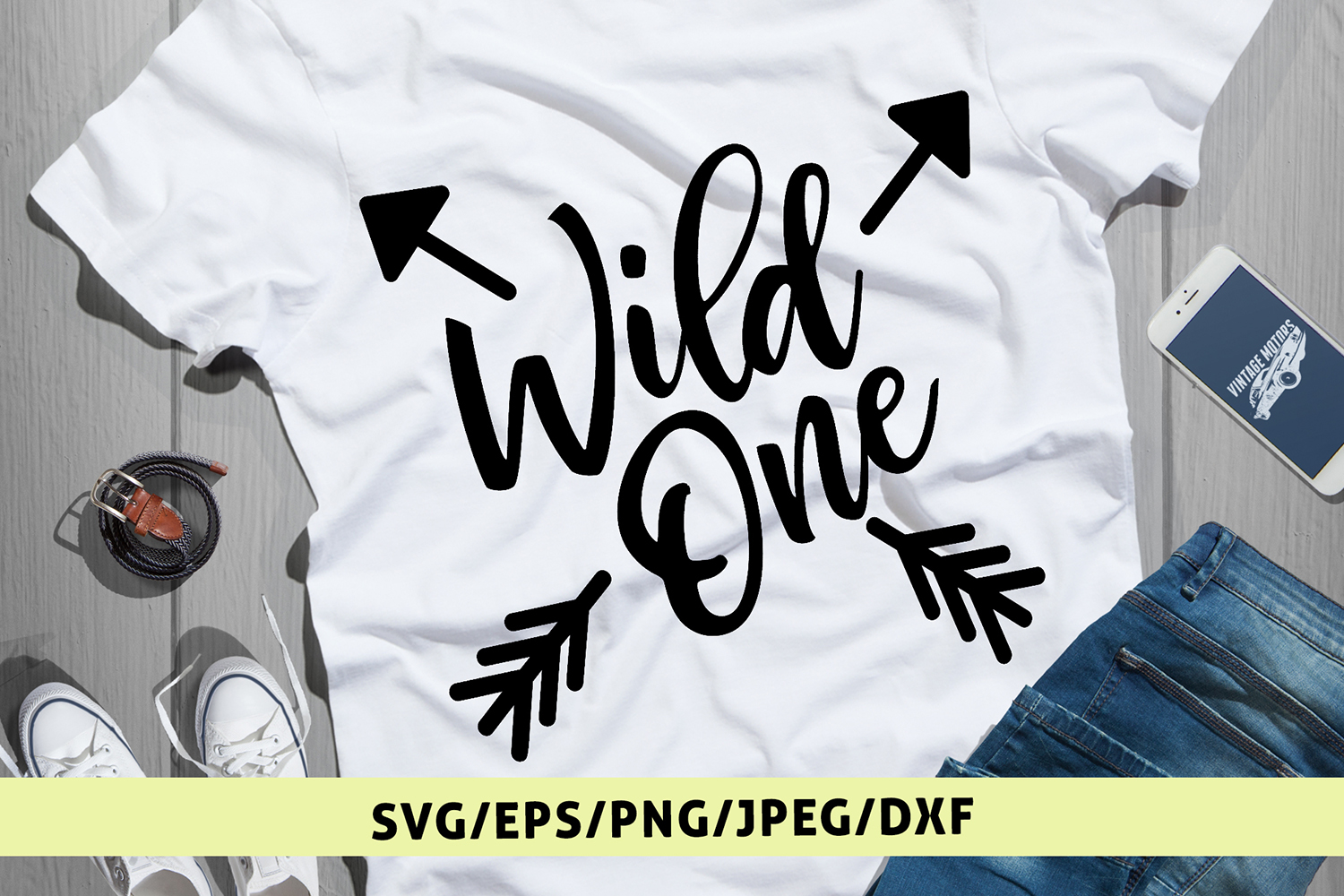 Wild One - Birthday SVG EPS DXF PNG Cutting Files example image 1